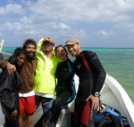 My dive master and scuba team