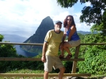 Overlooking Petit Peton on St Lucia island